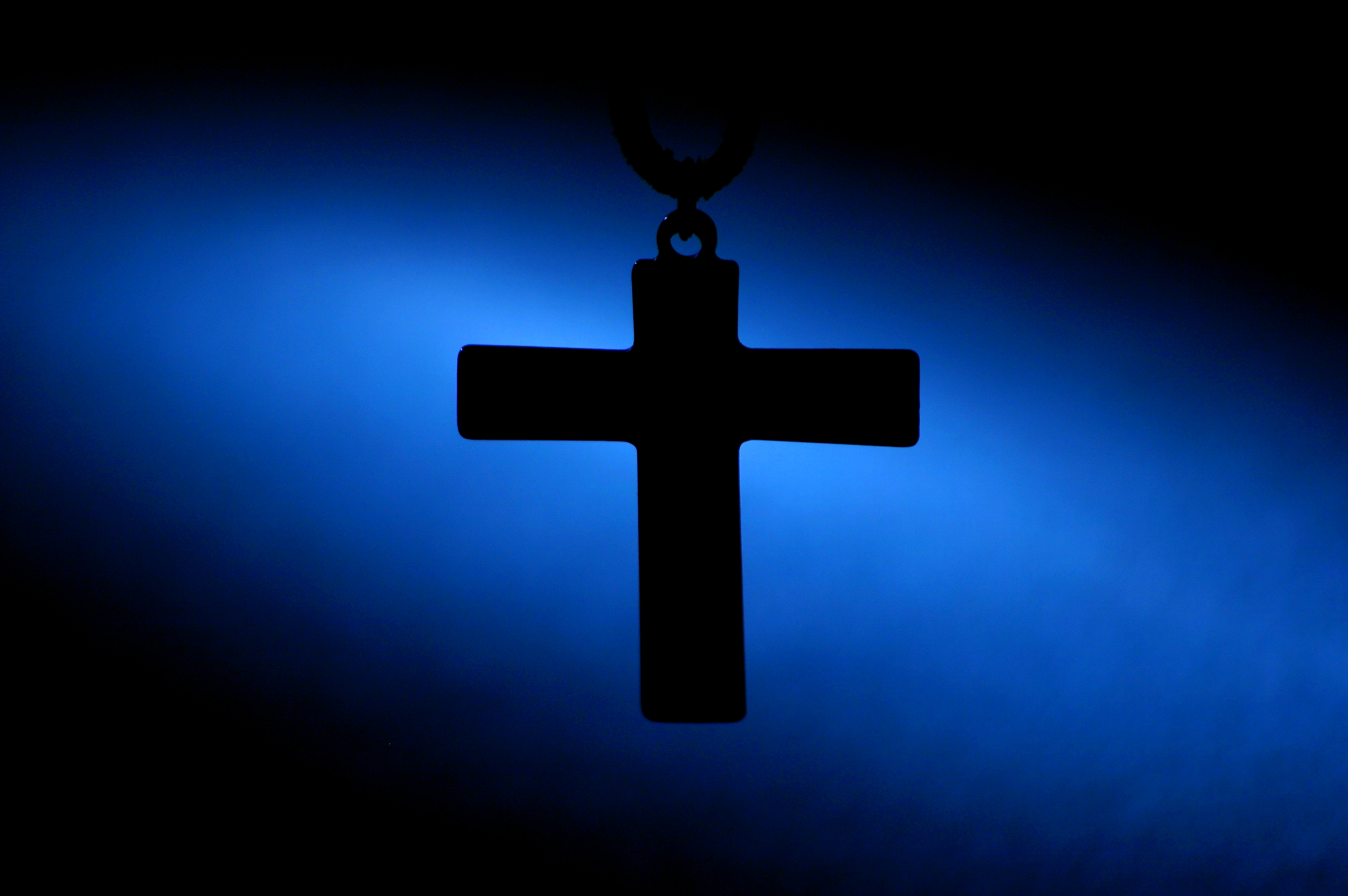 blue cross, waiting for God, God must be busy