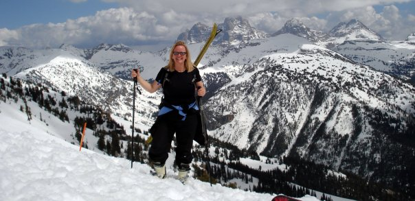 Jennifer on Peaked Mountain in Alta, Wy 2007