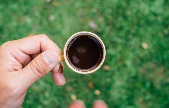 Half-full tea cup