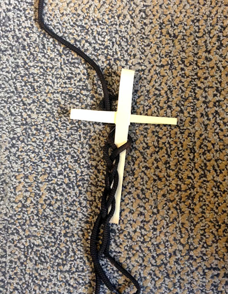 Three Strands with Cross