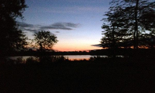 Dark with sunrise