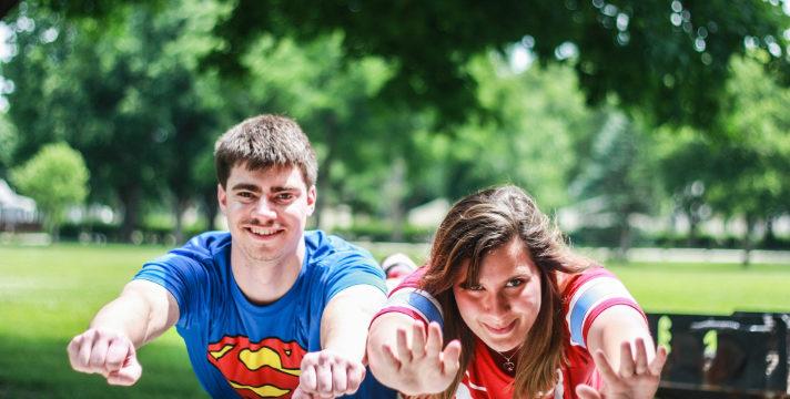 Sometimes a Girl Needs to Borrow Superman's Cape, courtesy of Adobe Spark