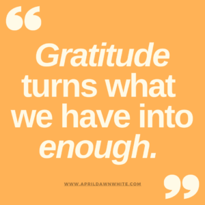 Gratitude and Learning Contentment