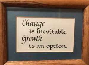 Change is inevitA