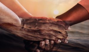 Twelve Ways to Stay Afloat in a Sea of Responsibility-several hands clasped under water