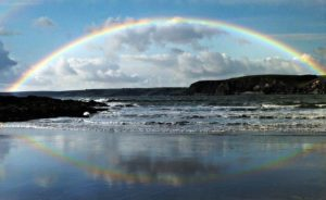Twelve Ways to Stay Afloat in a Sea of Responsibility-rainbow reflected in seashore
