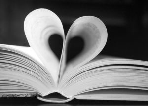 Mom's Never-Failing Gift Bible with inside pages shaped as a heart