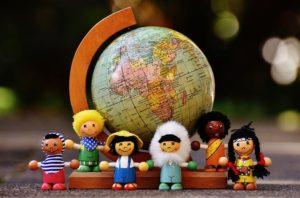 International Ministry-globe with international dolls around it